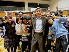 横浜市立青葉台中学校で地雷除去...