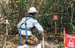 日本にはこんな素晴らしい人がいる。 対人地雷除 …